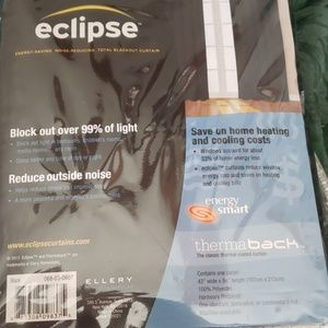"Eclipse Accents - Eclipse Total Blackout Curtains 42""w X 84"" length"